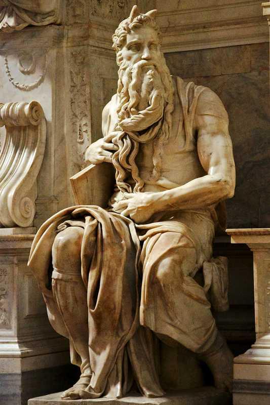 В квітні 1904 р., перебуваючи разом з М. С. Грушевським в Італії, Іван Франко відвідав базиліку Сан-П'єтро ін Вінколі в Римі і бачив там скульптуру Мойсея роботи Мікельанджело.